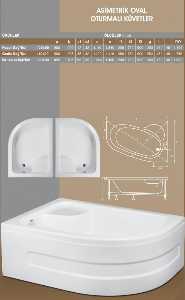 Asimetrik Oval Oturmalı, Duşakabin, Duşakabin Tamiri - Yako Banyo, 0212 651 55 75, Banyo Dolapları, Banyo Dolabı, istanbul, Bahçelievler