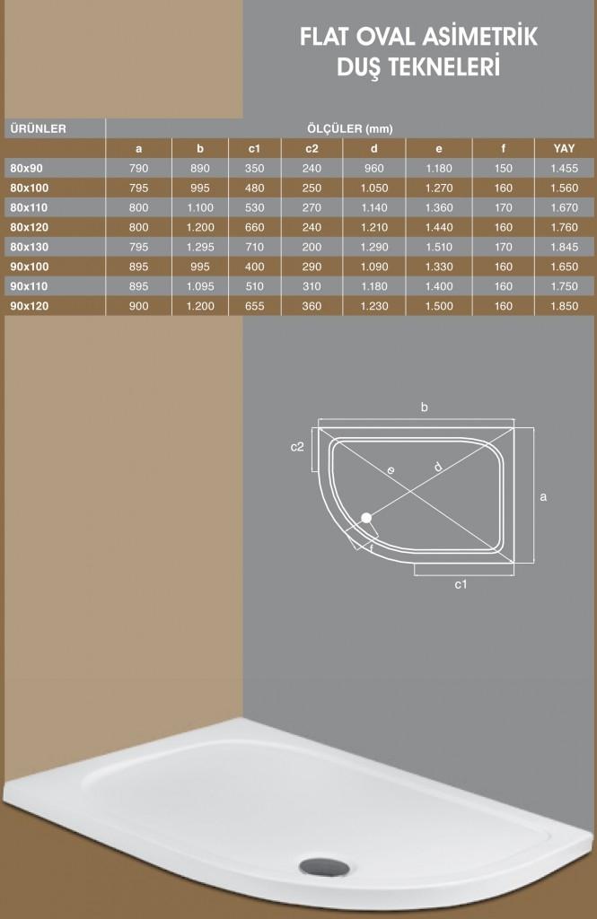Flat Oval Asimetrik, Duşakabin, Duşakabin Tamiri - Yako Banyo, 0212 651 55 75, Banyo Dolapları, Banyo Dolabı, istanbul, Bahçelievler