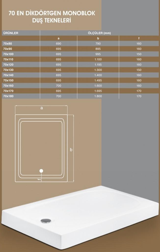 70 En Dikdörtgen Monoblok, Duşakabin, Duşakabin Tamiri - Yako Banyo, 0212 651 55 75, Banyo Dolapları, Banyo Dolabı, istanbul, Bahçelievler