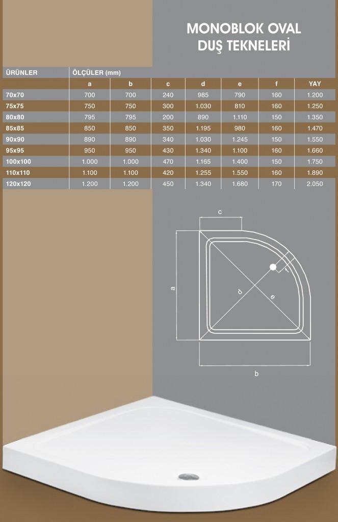 Monoblok Oval, Duşakabin, Duşakabin Tamiri - Yako Banyo, 0212 651 55 75, Banyo Dolapları, Banyo Dolabı, istanbul, Bahçelievler