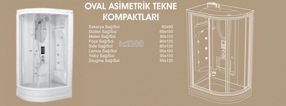 Oval Asimetrik Tekne Kompaktları, Duşakabin, Duşakabin Tamiri - Yako Banyo, 0212 651 55 75, Banyo Dolapları, Banyo Dolabı, istanbul, Bahçelievler
