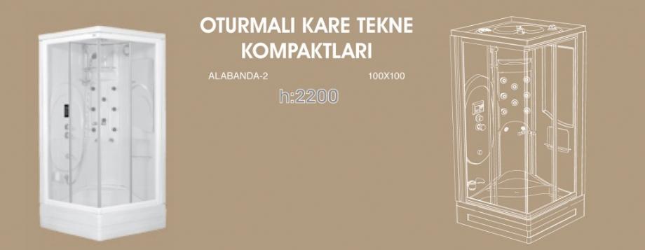Oturmalı Kare Tekne Kompaktları, Duşakabin, Duşakabin Tamiri - Yako Banyo, 0212 651 55 75, Banyo Dolapları, Banyo Dolabı, istanbul, Bahçelievler