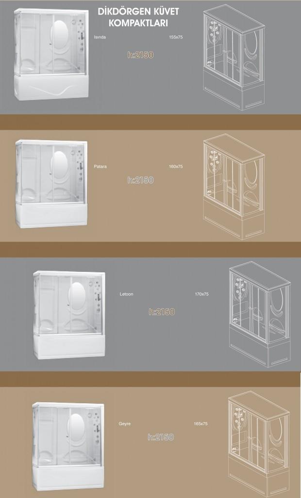 Dikdörtgen Küvet Kompaktları - 1, Duşakabin, Duşakabin Tamiri - Yako Banyo, 0212 651 55 75, Banyo Dolapları, Banyo Dolabı, istanbul, Bahçelievler