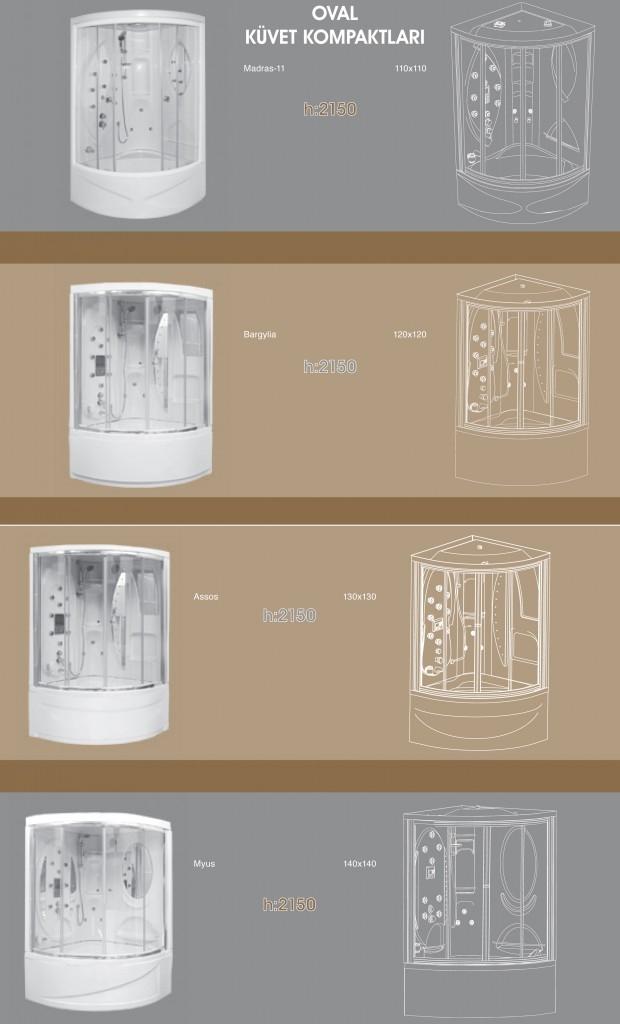 Oval Küvet Kompaktları, Duşakabin, Duşakabin Tamiri - Yako Banyo, 0212 651 55 75, Banyo Dolapları, Banyo Dolabı, istanbul, Bahçelievler