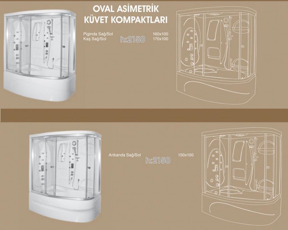 Oval Asimetrik Küvet Kompaktları, Duşakabin, Duşakabin Tamiri - Yako Banyo, 0212 651 55 75, Banyo Dolapları, Banyo Dolabı, istanbul, Bahçelievler